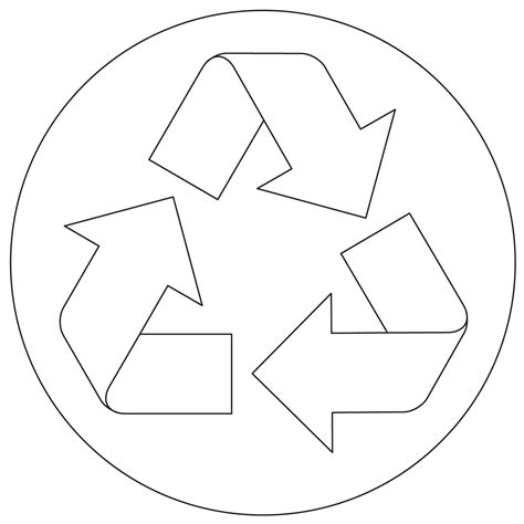 free recycling symbol coloring pages