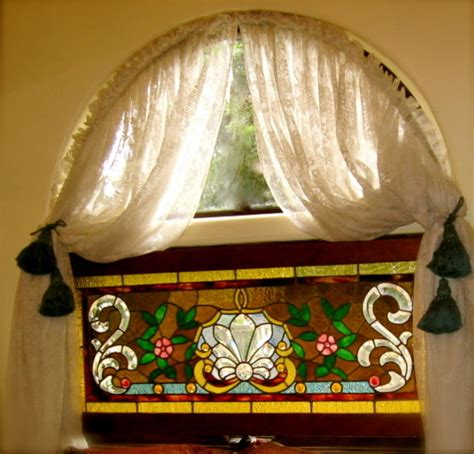 Window Treatments For Arched Windows Decor Arched Window Treatment Eclectic Bedroom Los Angeles