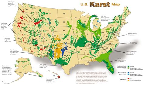 canadian karst map quot the cave karst quot