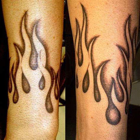 flame design tattoos negative flames 32 warm tattoos oh that