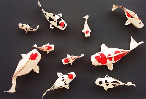 Origami Koi Carp - you should definitely give a carp about these beautiful