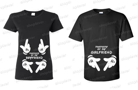 Shirts For Couples T Shirt Property Of My Boyfriend