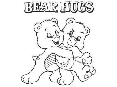 bear hug coloring pages bear hugs care bears activity ag kidzone