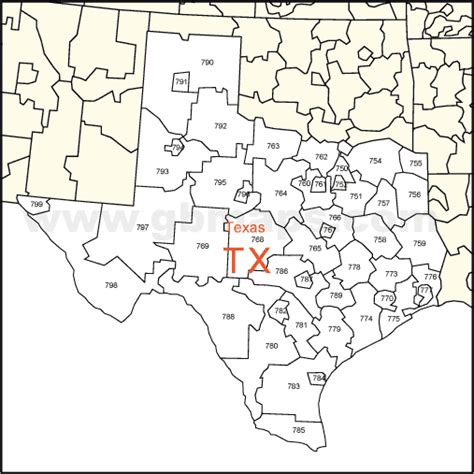 zip codes in texas map map of texas zip codes