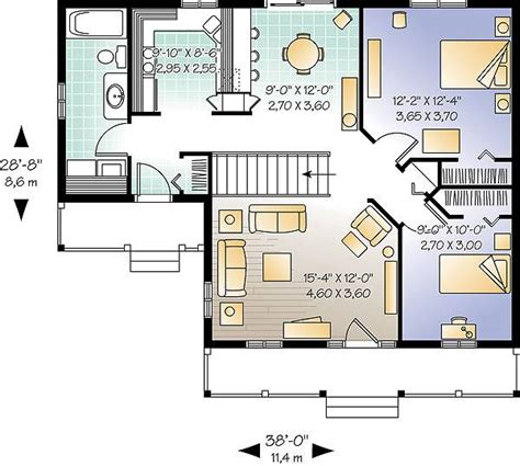 House Plans Two Master Suites One Story inland cottage 2 1390 2 bedrooms and 1 5 baths the