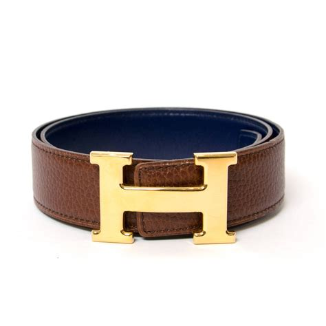 The Belts by Herm 232 S Reversible Quot H Quot Belt Ghw At 1stdibs