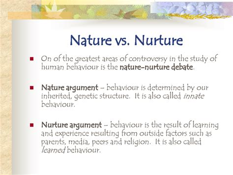 Nurture Vs Nature Essay by Nature Vs Nurture Ms Jarrett