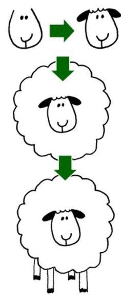sheep outline drawing coloring page sheep cartoon images