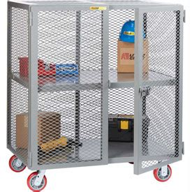 Alarm Mobil Wheel trucks carts trucks security cage