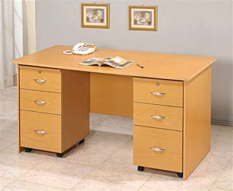 home office desk with file cabinet home office writing desk w 2 matching file cabinets all
