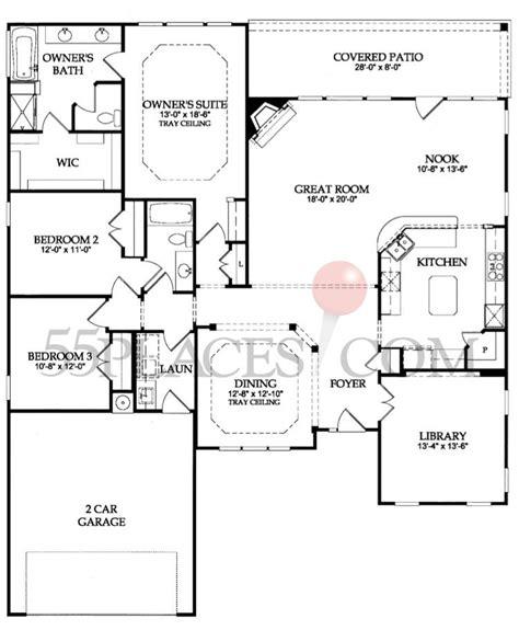 garden home floor plans chestnut garden floorplan 2246 sq ft sun city