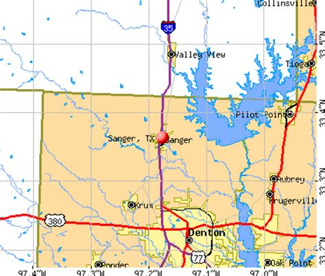 where is sanger texas on the map sanger texas tx 76266 profile population maps real estate averages homes statistics