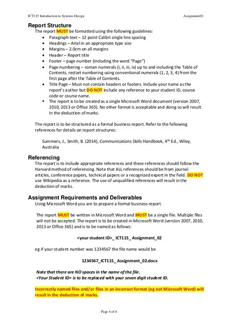 report writing assignment sle report writing assignment report writing monash