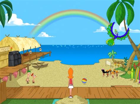 phineas and ferb backyard phineas flynn images backyard beach hd wallpaper and background photos 26755866