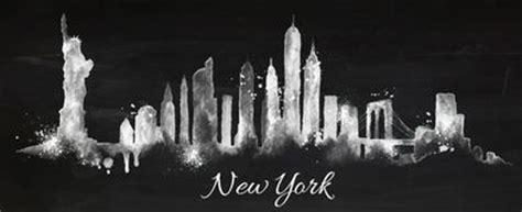 chalk paint new york new york skyline watercolor background stock photos