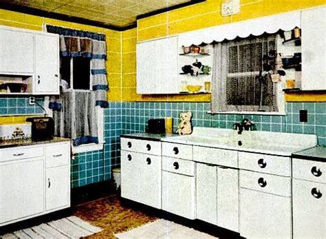 50s kitchen interesting yellow and green tile kitchen early 50s