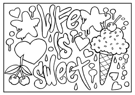 Inspirational Coloring Pages Printable | inspirational quotes coloring pages for adults