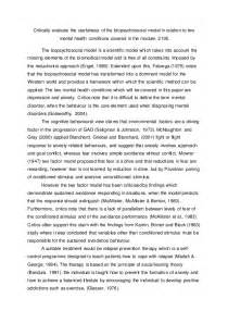 Social Model Of Health Essay by Self Biopsychosocial Assessment Assignment Mfacourses476 Web Fc2