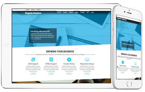 ephoto premium wordpress theme elegant themes eleganto pro one page parallax wordpress theme