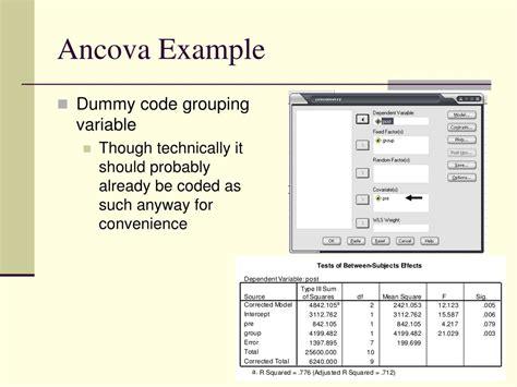 tutorial spss ancova ppt ancova powerpoint presentation id 679449
