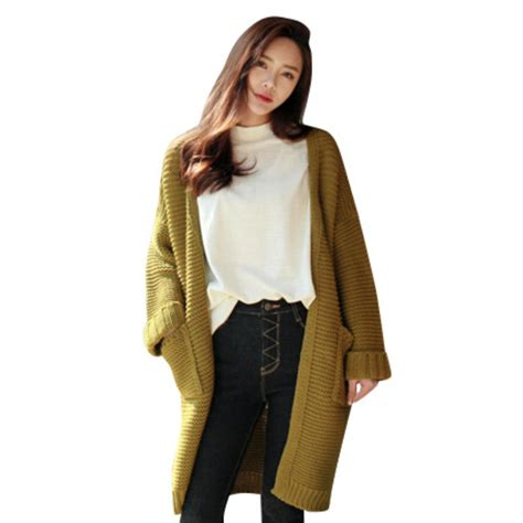 Jaket Sweater Cardigant womens sleeve warm knitted cardigan sweater