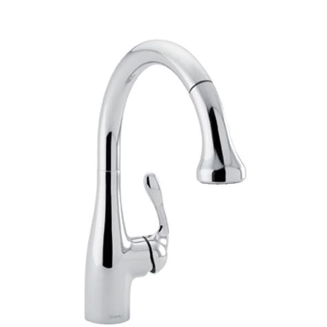 hansgrohe allegro kitchen faucet hansgrohe 04066000 allegro e gourmet pull prep kitchen faucet chrome faucetdepot