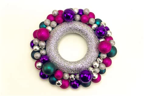 how to make a christmas bauble wreath party delights blog