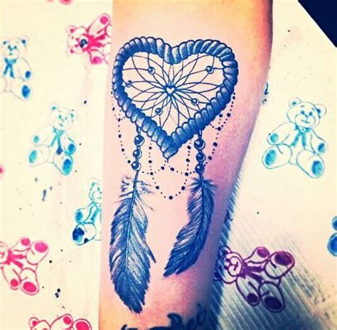 heart dreamcatcher tattoo dreamcatcher feather ink