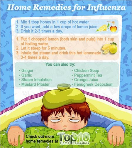 Home Remedies For Cold by Home Remedies For Influenza Flu Top 10 Home Remedies