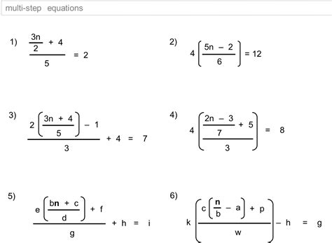linear equations pdf worksheet worksheets for all