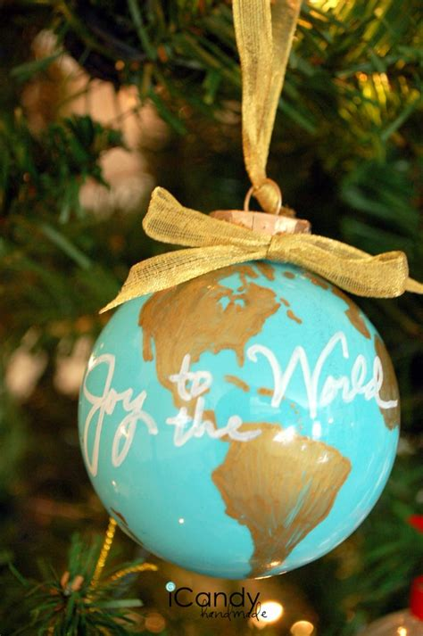 diy ornament idea from amousser joy to the world