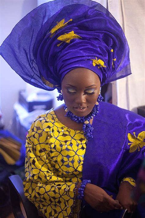 aso oke and lace attires for yoruba traditional weddings nigerian traditional wedding colour scheme blue wedding
