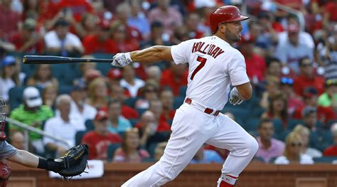 St Louis Cardinals Holliday Breaks Thumb Headed To Dl