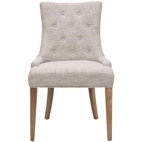 Tufted Nailhead Dining Chair Home Decorators Collection Becca Linen Leather Nailhead Dining Chair In Tufted Linen