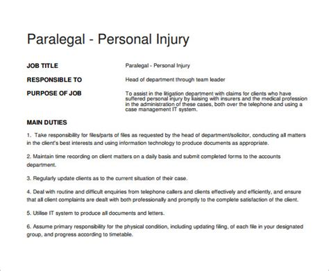 personal injury manager sle resume 28 images exles of