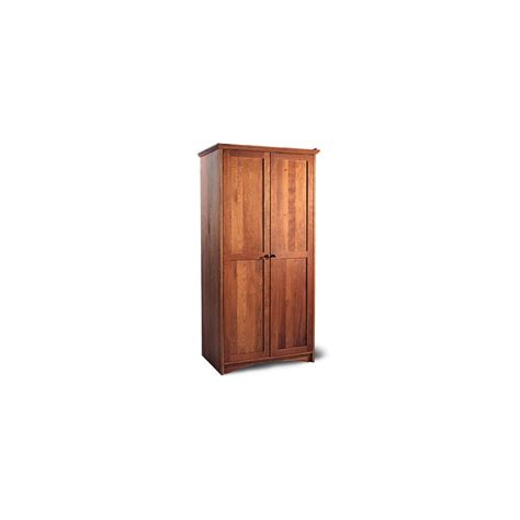 Armoire Shaker by High End Shaker Length Armoire Solid Wood Vermont
