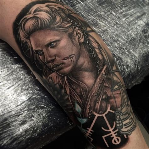norse tattoo history cool lagertha by tom hayes vikings tattoos tattoo s