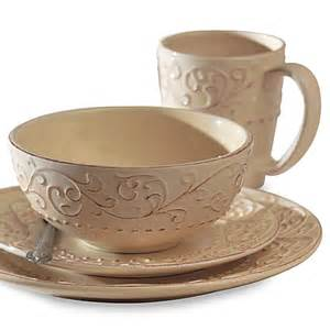 buy american atelier 16 piece bianca cream dinnerware set