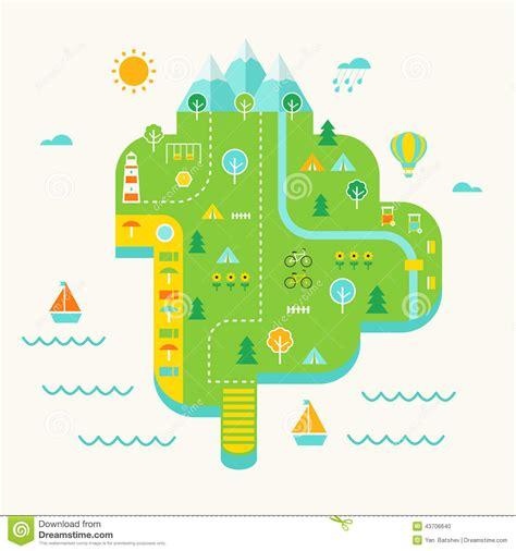 island resort map resort island illustrated map tourist destination and