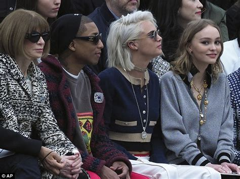 187 in good company lily rose depp joins vanessa paradis at chanel pfw show