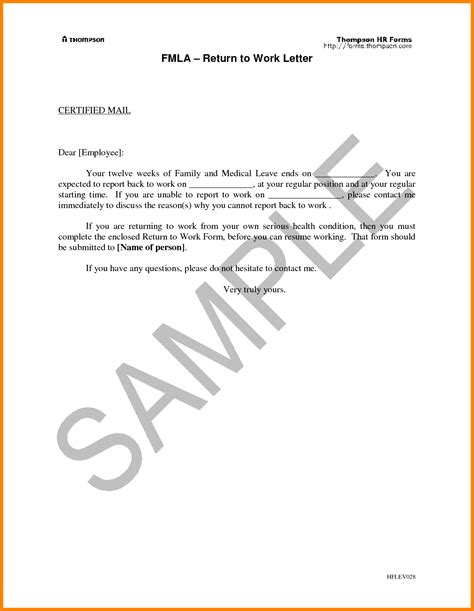 maternity leave card template gallery of return to work letter from physician