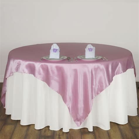 cheap table linens for weddings 30 pack 72x72 quot square satin table overlays wedding