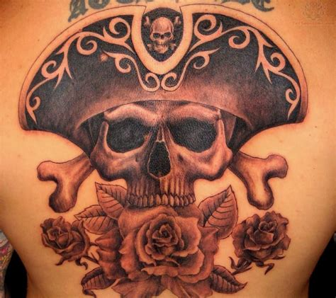 skull with hat tattoo designs pirate skull images designs