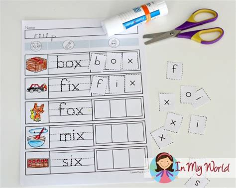 Words Ending With Letter X preschool letter x in my world