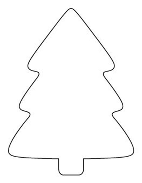 simple christmas tree pattern stencils pinterest