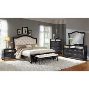 7 Pc Dining Room Set marilyn king bed ebony american signature furniture
