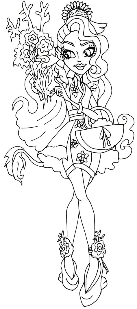 monster high scarrier reef coloring pages free printable monster high coloring pages december 2015
