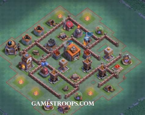 """Clash of Clans Builder Hall 6 Base """" New BH6 Defence Base CoC"""