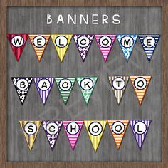 printable school banner welcome back banner banners and school banners on pinterest