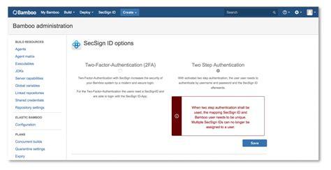 wordpress x tutorial bamboo two factor authentication secsign 2fa